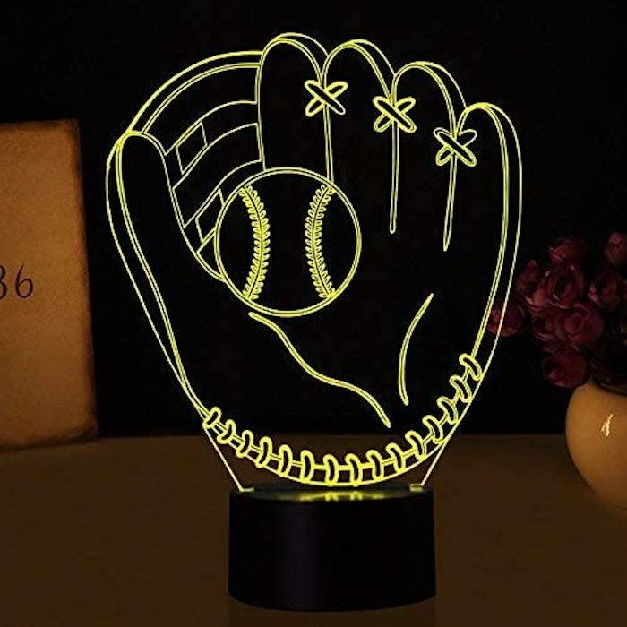 Baseball Glove Night Lights Illusion
