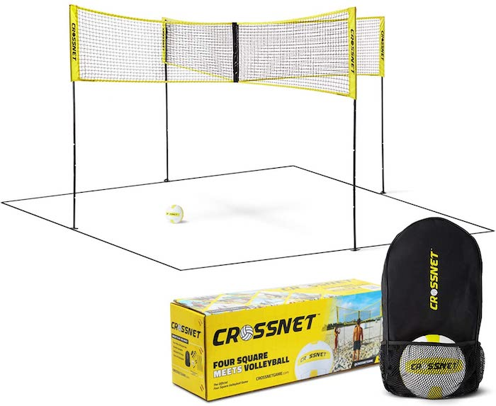 CROSSNET Four Square Volleyball Net & Game Set
