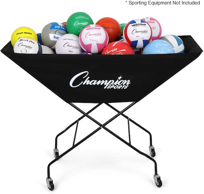 Champion Sports Volleyball Cart with Wheels