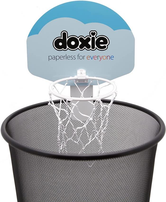 DoxieBall Basketball Trash Can Game