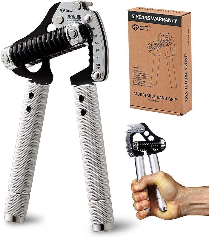 GD Iron Grip Metal Hand Grip Exerciser Strengthener