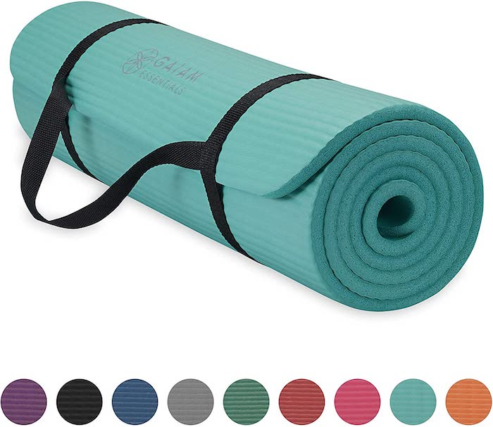 Gaiam Essentials Thick Yoga Mat Fitness & Exercise Mat