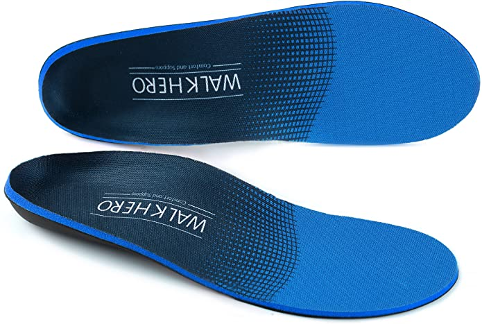 Walk Hero Plantar Fasciitis Feet Insoles Arch Supports Orthotics Inserts Relieve Flat Feet, High Arch, Foot Pain