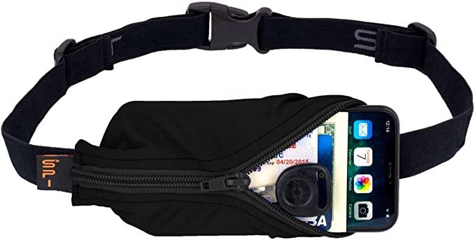 SPIbelt Running Belt Large Pocket, No-Bounce Waist Pack for Runners, Sport Pouch