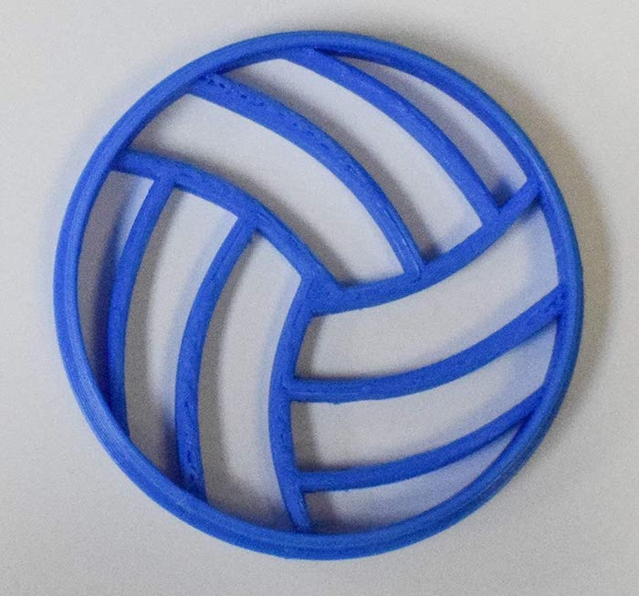 Volleyball Cookie Cutter 3D Printed