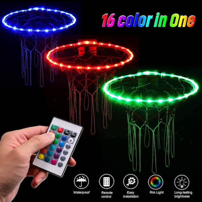 Waybelive LED Basketball Hoop Lights,Remote Contro